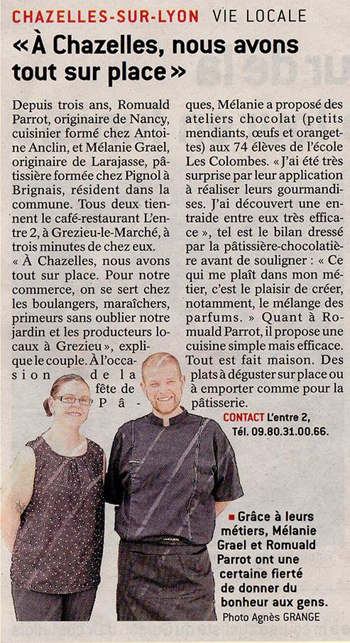 article_le_progres_atelier_chocolats_paques_ edition_chazelles_sur_lyon